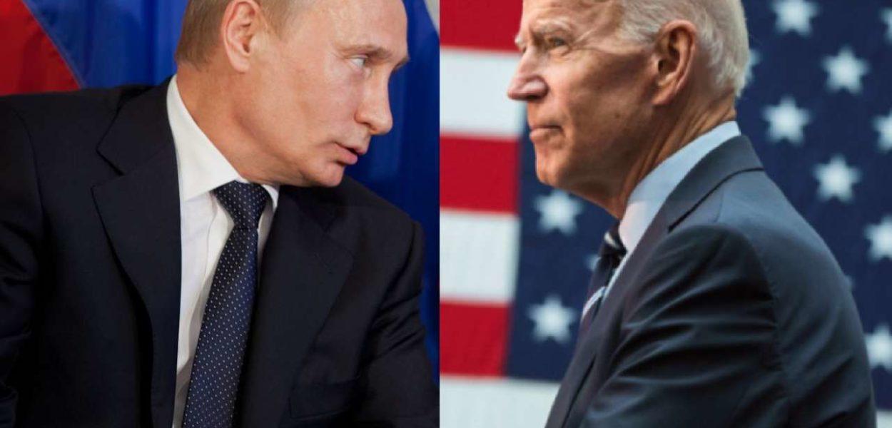 Les présidents Poutine et Biden. (int)